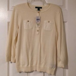 Ralph Lauren woman sweater , size M , cream color.